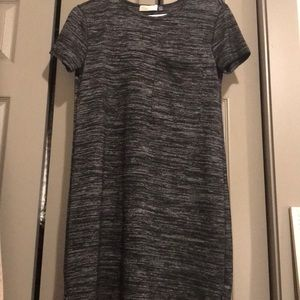 Black and grey T-shirt dress